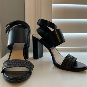 Nine West Black Sandal Heels